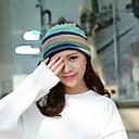 halpa Naisten hatut-Naisten Naisten lierihattu-Raidoitettu Punottu Puuvilla Kevät, Syksy, Talvi, Kesä Uima-allas Sateenkaari