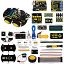 abordables Kits DIY-keyestudio 4wd bluetooth multi-funcional diy kit de coche inteligente manual de usuariopdf videoscrewdriver para arduino robot car starter