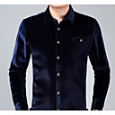 cheap Men's Oxfords-Men's Street chic Shirt - Solid Colored Formal Style / Long Sleeve
