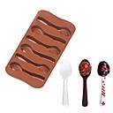 hesapli Çerez Araçları-Bakeware araçları Silikon Kek / Kurabiye / Çikolota Pasta Kalıpları 1pc