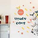 baratos Decoração Natalina-Animais Desenho Animado Adesivos de Parede Autocolantes 3D para Parede Autocolantes de Parede Decorativos, Vinil Decoração para casa