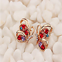 cheap Pins and Brooches-Women's Stud Earrings / Hoop Earrings - Animal Dainty, Vintage, Korean White / Red For Party / Daily