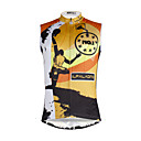 cheap Sleeping Bags & Camp Bedding-ILPALADINO Men's Sleeveless Cycling Jersey - Black / Orange Skull Bike Vest / Gilet / Jersey, Quick Dry