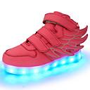 ieftine Pantofi Fetițe-Fete Pantofi Piele PVC / Materiale Personalizate / Imitație de Piele Primăvară Confortabili / Pantofi Usori Adidași Bandă Magică / LED
