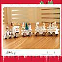 お買い得  クリスマス向けおもちゃ-クリスマスデコレーション クリスマスギフト クリスマス向けおもちゃ 電車 / 汽車 おもちゃ トレーン 休暇 子供 誕生日 クラシック 雪だるま ウッド 1pcs 小品