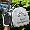 baratos Essenciais de Viagens para Cães-Gato Cachorro Tranportadoras e Malas Animais de Estimação Transportadores Respirável Amor Cinzento Rosa claro