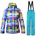 billige Ski- og snowboardtøj-Dame Skijakke og bukser Varm Ventilation Vindtæt Påførelig vandafvisende Ski Multisport Vintersport Snesport Polyester