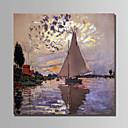 preiswerte Abstrakte Gemälde-Hang-Ölgemälde Handgemalte - Landschaft Abstrakt Segeltuch