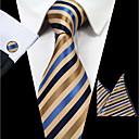 billige Tilbehør til herrer-Herre Striper Slips Stripet Polyester