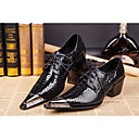 cheap Men's Oxfords-Men's Formal Shoes Patent Leather Spring / Summer Vintage Oxfords Black / Wedding / Party & Evening / Novelty Shoes