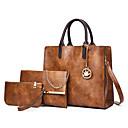 povoljno Komplet torbi-Žene Patent-zatvarač PU Bag Setovi Kompleti za vrećice 3 kom Crn / Braon / Red