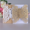 cheap Wedding Decorations-Double Gate-Fold Wedding Invitations Invitation Cards Response Cards Invitation Sample Engagement Party Cards Invitations Sets Formal