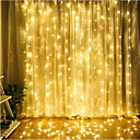 cheap LED String Lights-4m String Lights 300 LEDs Dip Led Warm White / Cold White / Blue Linkable 220-240 V 1pc / IP65