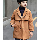 cheap Boys' Clothing Sets-Kids Boys' Solid Colored Trench Coat Wine 7-8 Years(140cm)