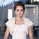 זול עליוניות לחתונה-שרוולים קצרים דמוי פרווה חתונה / מסיבה\אירוע ערב כיסויי גוף לנשים עם נוצות \ פרווה בולרו