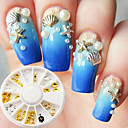 cheap Rhinestone & Decorations-1 pcs Metallic / Fashion Nail Art Design Daily