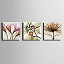 hesapli Tablolar-Boyama Haddelenmiş Kanvas Tablolar - Çiçekler Modern