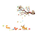 cheap Wall Stickers-Animals Botanical Fashion Wall Stickers Plane Wall Stickers Decorative Wall Stickers,Vinyl Material Home Decoration Wall Decal