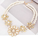 cheap Necklaces-Women's Pendant Necklace - Imitation Pearl Leaf Classic, European, Fashion Gold Necklace For Daily, Formal
