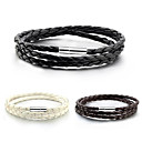 cheap Men's Bracelets-Men's / Women's Wrap Bracelet - Leather Bracelet White / Black / Coffee For Daily