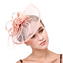 cheap Party Headpieces-Tulle / Flax / Net Fascinators / Flowers / Headpiece with 1 Wedding / Party / Evening Headpiece