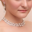 cheap Jewelry Sets-Women's Jewelry Set - Imitation Pearl, Imitation Diamond Classic Include Drop Earrings / Necklace Silver For Wedding / Party