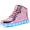 baratos Tênis Masculino-Mulheres Sapatos Materiais Customizados / Courino Outono / Inverno Conforto / Tênis com LED Tênis Ponta Redonda Cadarço / Colchete / LED
