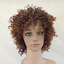 olcso Szintetikus parókák-Szintetikus parókák Kinky Curly Szintetikus haj Afro-amerikai paróka Barna Paróka Női Közepes Sapka nélküli Beige