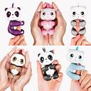 olcso LED sávos fények-Ujjbáb Állat A Panda ujjlenyomat Panda Interaktív baba Cuki Érintésérzéklő Smart Touch Puha műanyag Szilikon PVC ABS Gyermek Felnőttek