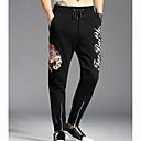 tanie Taśmy świetlne LED-Męskie Aktywny Szczupła Spodnie dresowe Spodnie Jendolity kolor / Haft