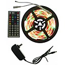 cheap LED Strip Lights-SENCART 5m Light Sets 300 LEDs 5050 SMD RGB Remote Control / RC / Cuttable / Dimmable 100-240 V 1set / Linkable / Self-adhesive / Color-Changing