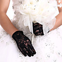 cheap Party Gloves-Lace Wrist Length Glove Bridal Gloves Party/ Evening Gloves With Embroidery