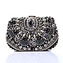 cheap Clutches & Evening Bags-Women's Bags Polyester Evening Bag Sequin / Crystals Black