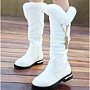 baratos Sandálias Femininas-Para Meninas Sapatos Pele Inverno Conforto / Botas de Neve Botas para Branco / Preto / Vermelho