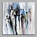 tanie Obrazy: motyw zwierzęcy-Hang-Malowane obraz olejny Ręcznie malowane - Streszczenie Nowoczesny Brezentowy / Walcowane płótno