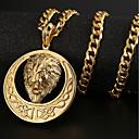 olcso Férfi nyakláncok-Női Nyaklánc medálok - Arannyal bevont Oroszlán Vintage, Hip-Hop Arany, Fekete, Ezüst Nyakláncok Ékszerek Kompatibilitás Parti, Napi