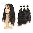 tanie Dopinki w naturalnych kolorach-3 zestawy Włosy peruwiańskie Naturalne fale Włosy remy Człowieka splotów włosów Ludzkie włosy wyplata Ludzkich włosów rozszerzeniach
