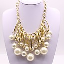 cheap Necklaces-Women's Pendant - Imitation Pearl Classic, Fashion Gold Necklace Jewelry For Engagement, Ceremony