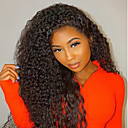 cheap Synthetic Capless Wigs-Human Hair Glueless Lace Front Lace Front Wig Brazilian Hair Kinky Curly Wig Bob Haircut Layered Haircut 150% Hair Density Natural Hairline 100% Virgin Unprocessed Women's Medium Length Human Hair