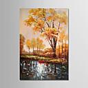 preiswerte Abstrakte Gemälde-Hang-Ölgemälde Handgemalte - Landschaft Modern Segeltuch