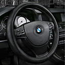 cheap Steering Wheel Covers-Steering Wheel Covers Genuine Leather 38cm Black Beige Gray CoffeeforHonda Elysion Spirior City Vezel XRV CRV Accord Civic Fit All years