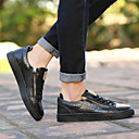 cheap Men's Sneakers-Men's Shoes Leather Spring / Fall Comfort / Vulcanized Shoes Sneakers Walking Shoes White / Black / Gray