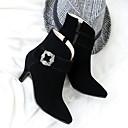 ieftine Sandale de Damă-Pentru femei Pantofi Piele nubuc Toamnă / Iarnă Confortabili / Noutăți / Cizme la Modă Cizme Toc Stilat Vârf ascuțit Cizme / Cizme la