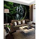 baratos Murais de Parede-Árvores/Folhas Art Deco 3D Decoração para casa Moderna Rústico Modern Revestimento de paredes, Tela de pintura Material adesivo necessário