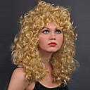 olcso Szintetikus parókák-Szintetikus parókák Hullám Szőke Bretonnal Szintetikus haj Szőke Paróka Női Közepes Sapka nélküli Szőke