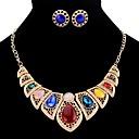 baratos Broches e Pins-Mulheres Conjunto de jóias - Caído Vintage, Europeu Incluir Dourado / Prata Para Festa / Formal / Brincos