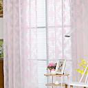 זול וילונות שקופים-Sheer וילונות גוונים חדר שינה הדפסים גרפיים תערובת פוליאסטר הדפס