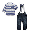 cheap Boys' Clothing Sets-Boys' Daily Sports Striped Clothing Set, Cotton All Seasons Long Sleeves Casual Street chic Blue