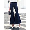 preiswerte Modische Halsketten-Damen Street Schick Hohe Hüfthöhe Baumwolle Jeans Hose Solide / Ausgehen