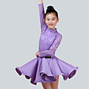 povoljno Odjeća za latino plesove-Dječja plesna odjeća Outfits Seksi blagdanski kostimi Najlon Čipka Dugih rukava Prirodno Suknje Top